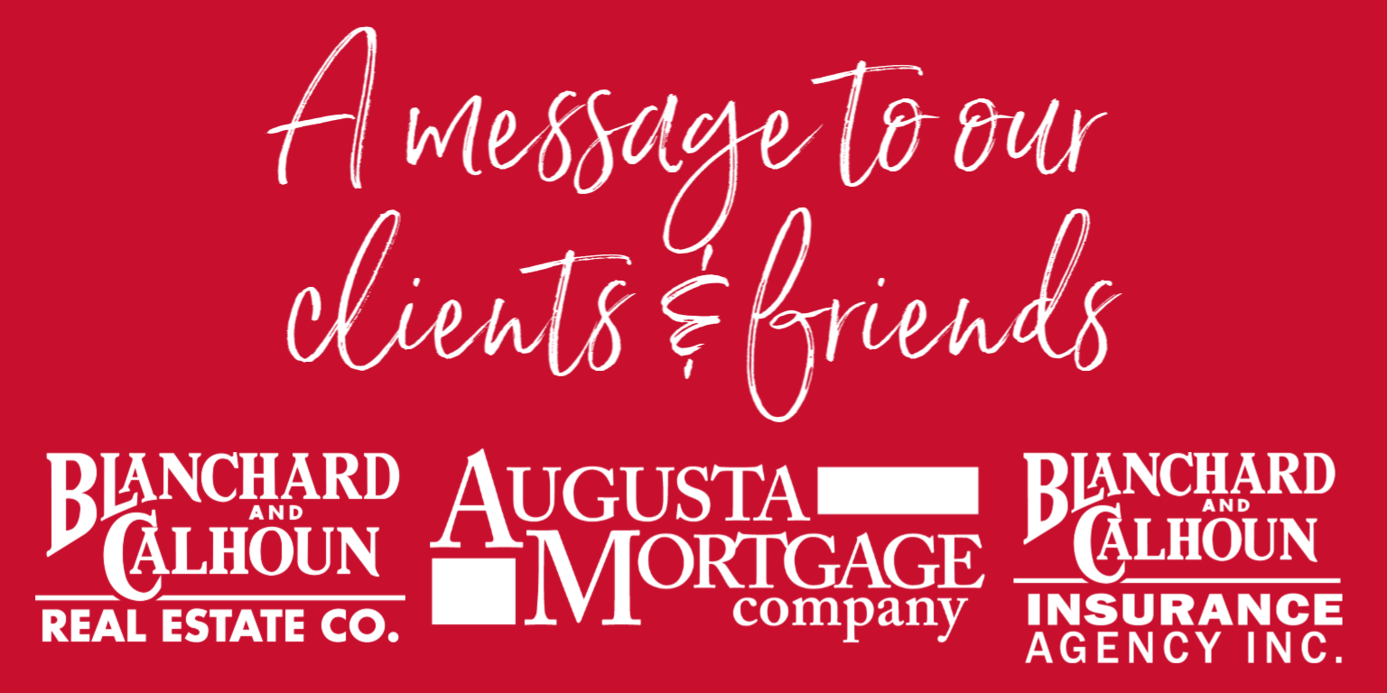 A Message from Blanchard & Calhoun Real Estate