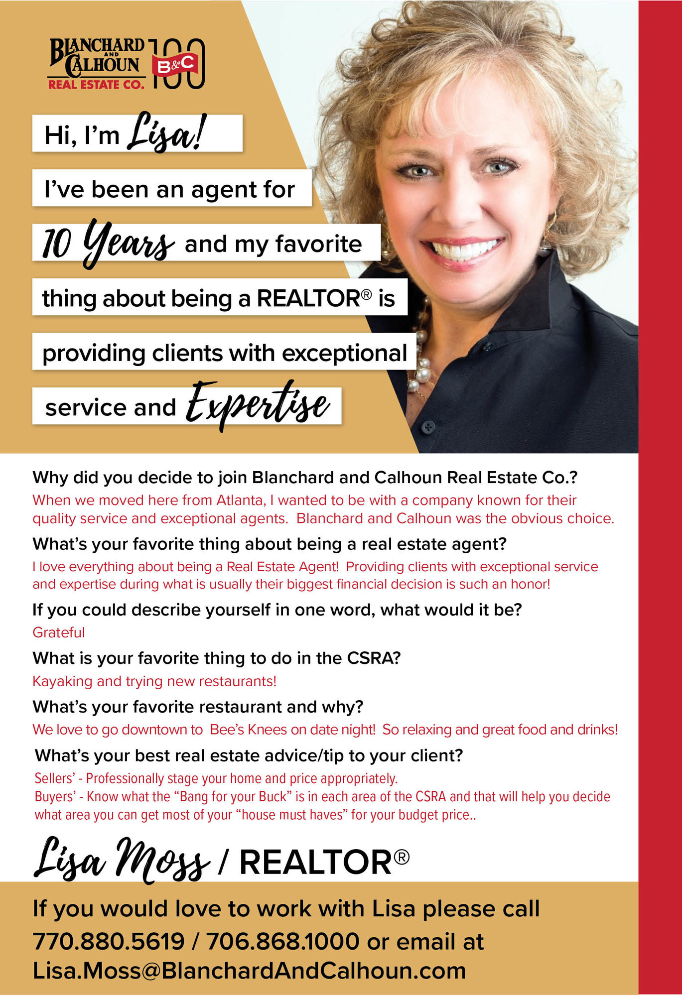 Lisa Moss, Blanchard and Calhoun Real Estate