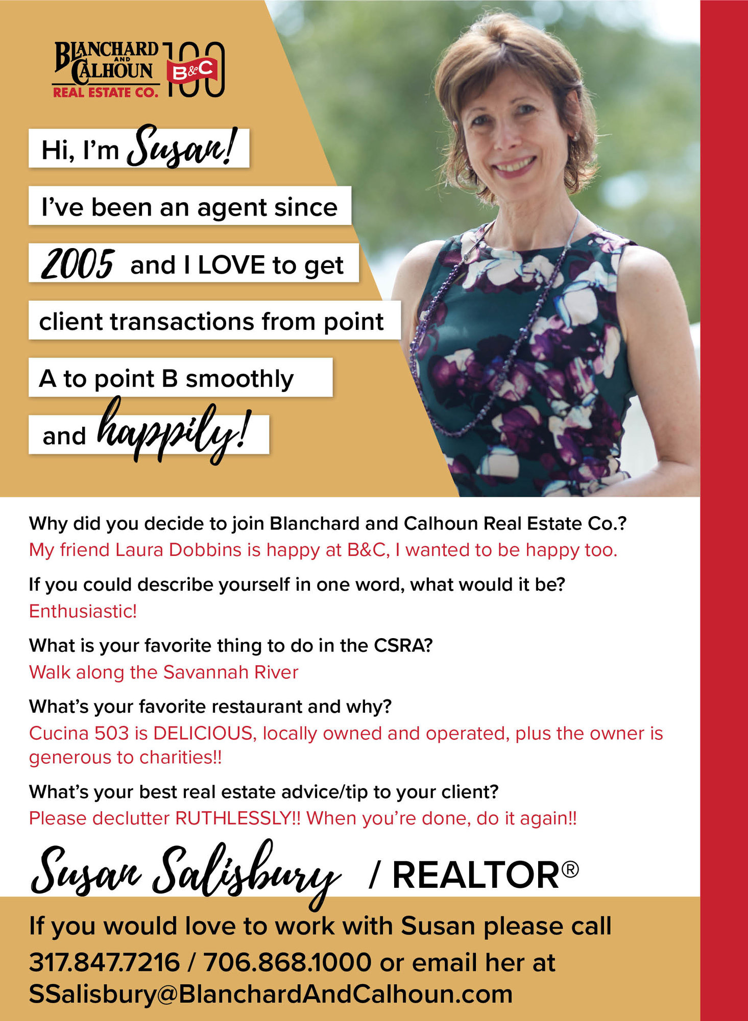 Susan Salisbury, Blanchard and Calhoun Real Estate